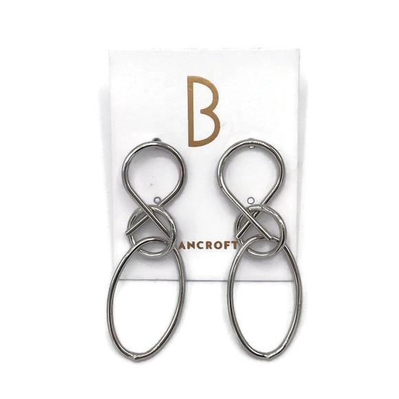 Bancroft Silver-Tone Dangle Abstract Earrings NWOT